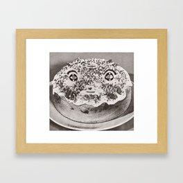 Two-Faced Cake Framed Art Print