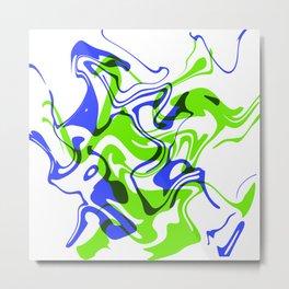 "AGILITY – 20"" x 20"" (50 x 50 cm), abstract art Metal Print"