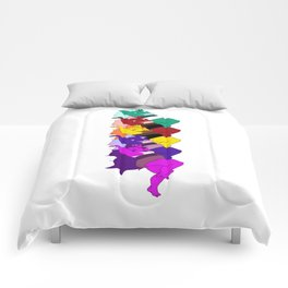 Amethyst Falling in a Cool Color Palette Comforters
