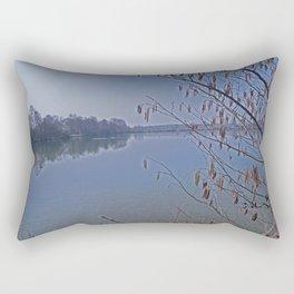natural lake Rectangular Pillow