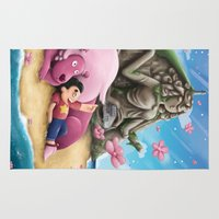 steven universe Area & Throw Rugs featuring Steven Universe by toibi