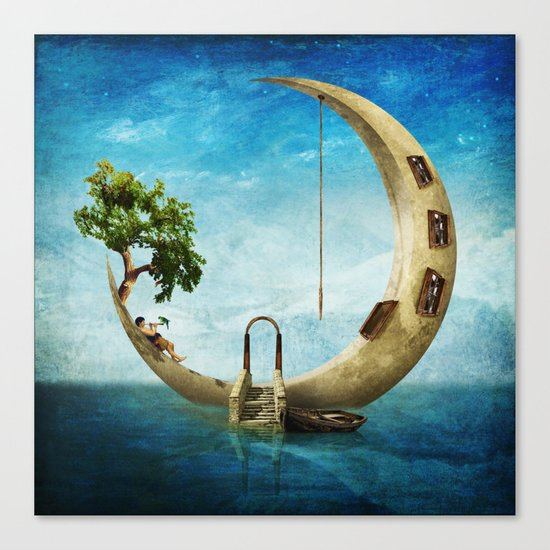 Home Sweet Moon Canvas Print