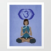 Korra Meditation - Third Eye Chakra Art Print
