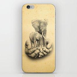 Refuge Elephants Drawing iPhone Skin