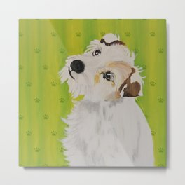 Little Dog Maja Metal Print
