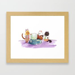 Breaking Cat News - The Water Cooler Framed Art Print