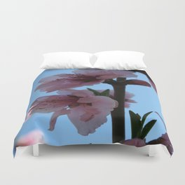 Pastel Pink of Peach Tree Blossom Duvet Cover