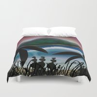 paradise Duvet Covers featuring Paradise by ShaylahLeigh