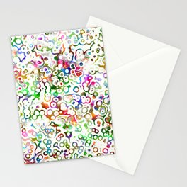 Abstract Microbes Stationery Cards