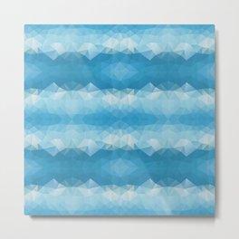 Blue mozaic design Metal Print