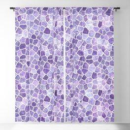 Pale Lilac Cobbled Patchwork Blackout Curtain
