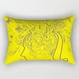 Over Thinking Over and Over Rectangular Pillow
