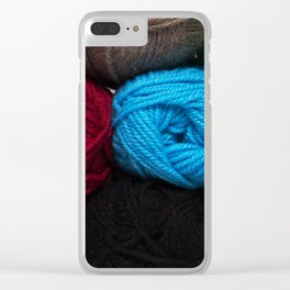 Knitting Bag One Clear iPhone Case