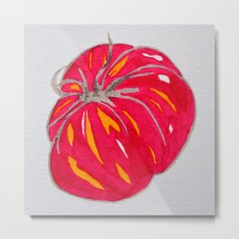 juicy red tomato Metal Print