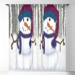Puffy The Snowman Blackout Curtain