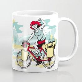 Cycling Girl Coffee Mug