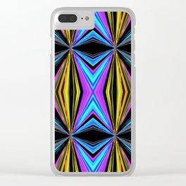 Funky Diamond Print Clear iPhone Case