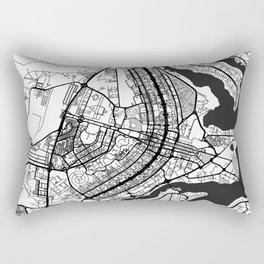 Brasilia Map Gray Rectangular Pillow