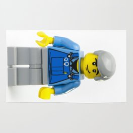 Old man Minifig in overalls Rug