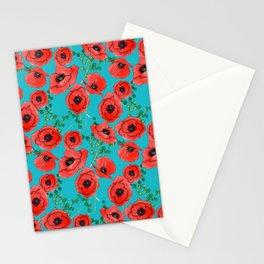 Bright Poppies Stationery Cards