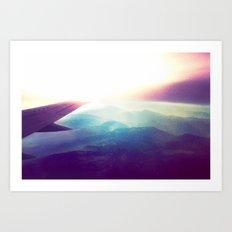 evening plane 2 Art Print