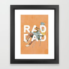 Rad Dad Framed Art Print