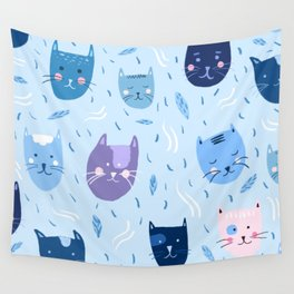 Little blue cats Wall Tapestry