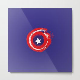 Patriot shield full color Metal Print