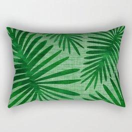 Emerald Retro Nature Print Rectangular Pillow