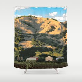 Regusci Winery - Napa Valley Shower Curtain
