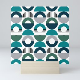 Retro style pattern 6 Mini Art Print