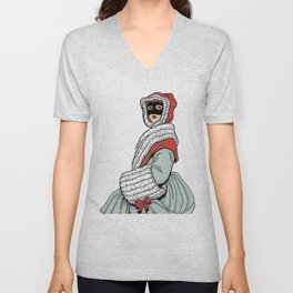Masked Girl Unisex V-Neck