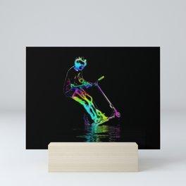 Puddle Jumping - Scooter Boy Mini Art Print