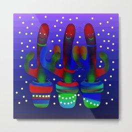 Cactus Rainbow 03 Metal Print
