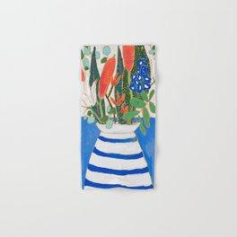 Nautical Striped Vase of Flowers Hand & Bath Towel