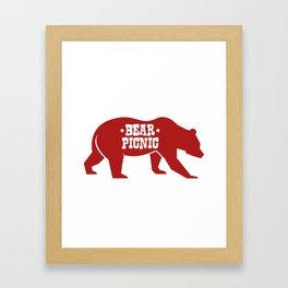 Bear Silhouette  Framed Art Print