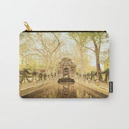 Paris - Springtime - Beautiful Fountain Carry-All Pouch
