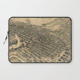 Vintage Pictorial Map of Stockton California (1895) Laptop Sleeve