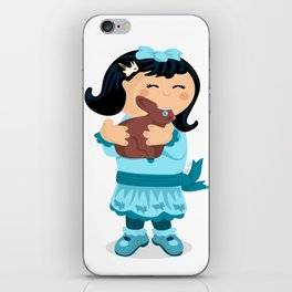 Nibbling Easter Girl iPhone Skin