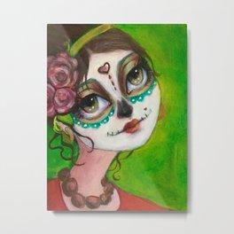Dia de Los muertos beauty Metal Print