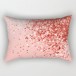 Sparkling Living Coral Lady Glitter #1 #shiny #decor #art #society6 Rectangular Pillow