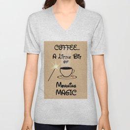 Coffee Morning Magic Unisex V-Neck