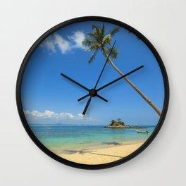 Pam Tree Beach Landscape Wall Clock