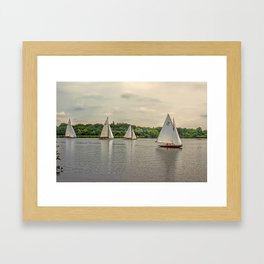 Sailing on Wroxham Broad. Framed Art Print