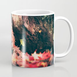 Drop Of Red Above Water Coffee Mug