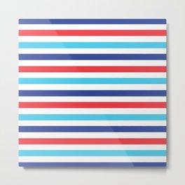 Multi Color Striped Color Block Metal Print