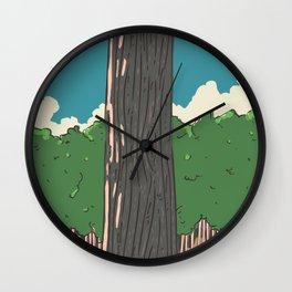 Japanese Woodland Wall Clock