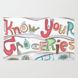 Know Your Groceries Rug