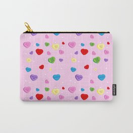 Funny Pink Valentines Heart Carry-All Pouch