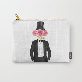 Gentleman with flowers Carry-All Pouch